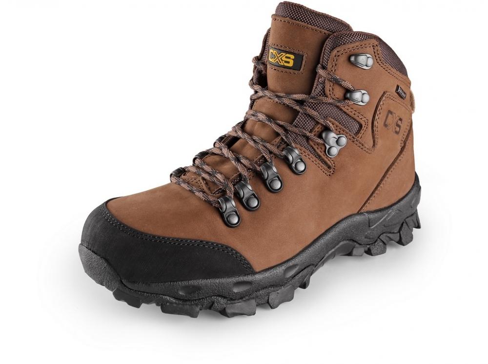 1b8810c7f81 bez ochranných prvkov  Pracovná obuv GOTEX MONT BLANC hnedá ...