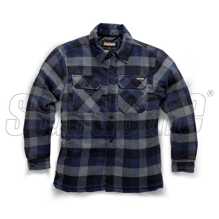 05a406328 Pracovné tričká a polokošeľe: Pracovná zateplená flanelová kockovaná ...